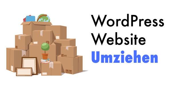 wordpress website umziehen