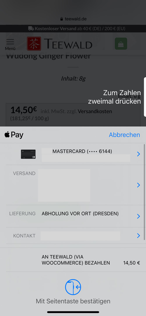 Onlineshop Apple-Pay