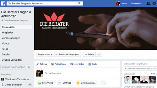 Berater-Facebook-Gruppe