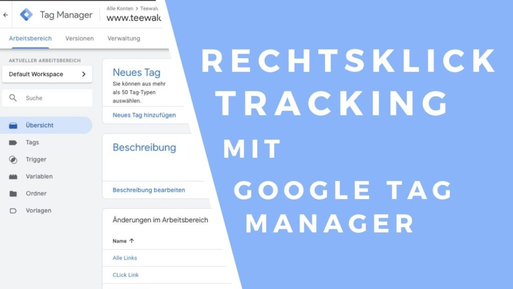 rechts klick tracking google tag manager