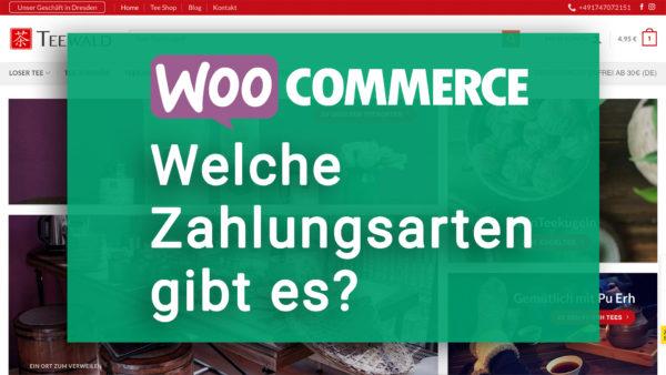 WooCommerce Welche Zahlungsarten sind möglich oder verfügbar?