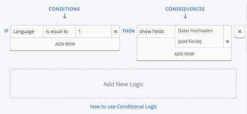 formcraft conditional logic